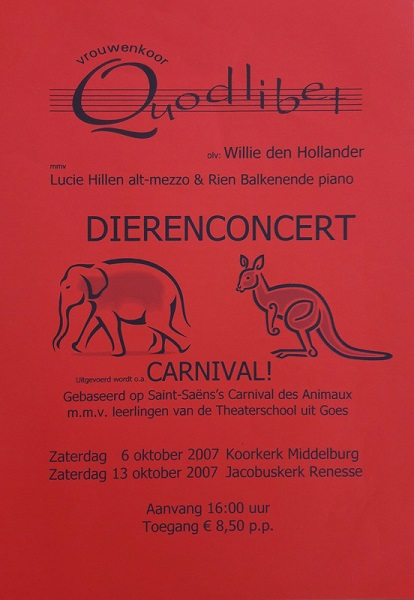 2007 poster dierenconcert